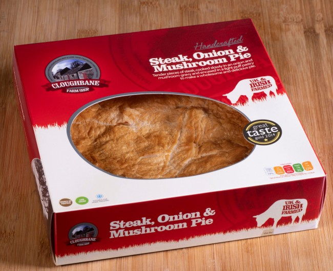Steak, Onion & Mushroom Pie