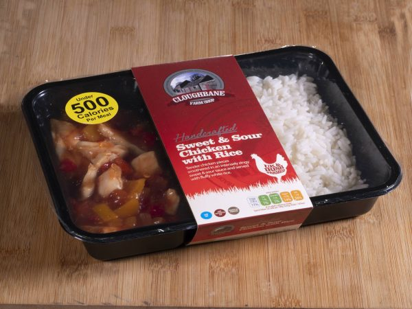 Cloughbane Sweet & Sour Chicken with rice